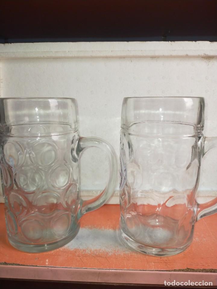 Coleccionismo de cervezas: Dos jarras cerveza alemanas de 1 litro - Foto 2 - 206831618