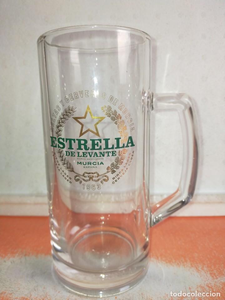JARRA CERVEZA ESTRELLA LEVANTE DE MURCIA (Coleccionismo - Botellas y Bebidas - Cerveza )