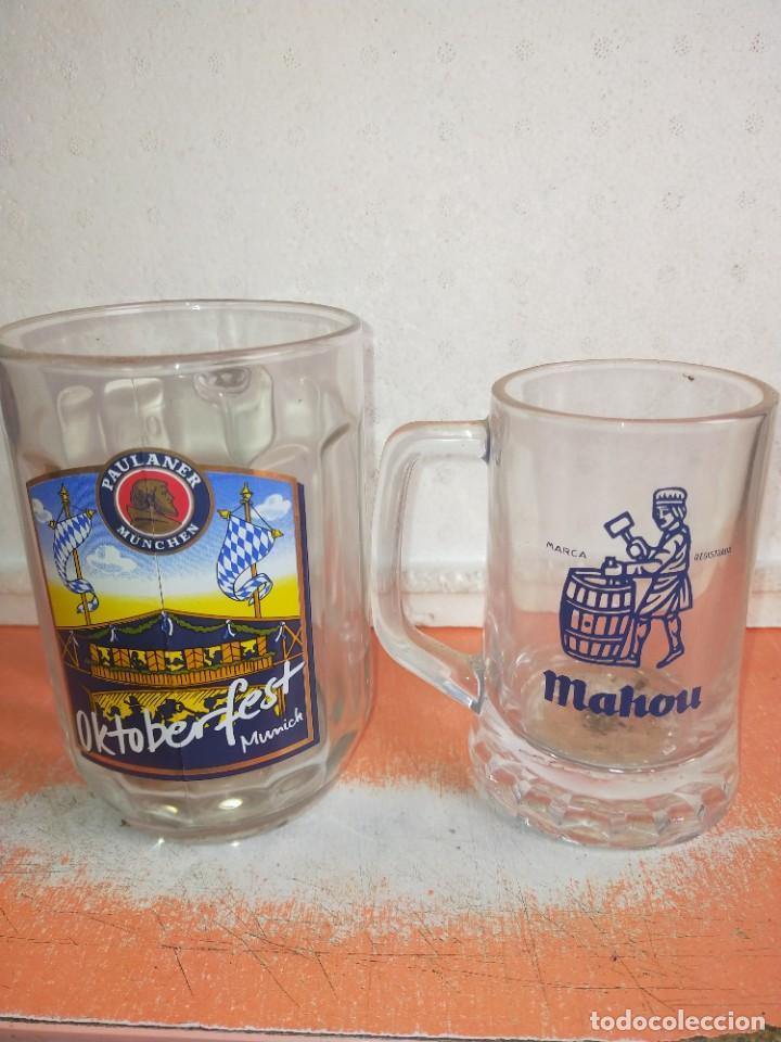 DOS JARRAS CERVEZA PAULANER Y MAHOU (Coleccionismo - Botellas y Bebidas - Cerveza )