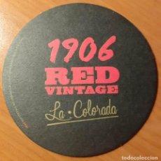 Coleccionismo de cervezas: POSAVASOS ESTRELLA GALICIA 1906 RED VINTAGE, LA COLORADA. Lote 206868390