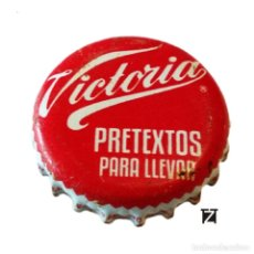 Coleccionismo de cervezas: TAPÓN CORONA MÉXICO (MX)--CHAPA CERVEZA MODELO VICTORIA (PRETEXTO PARA LLEVAR) 2 IMAGENES. Lote 206894511
