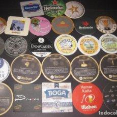 Coleccionismo de cervezas: LOTE DE POSAVASOS DE CERVEZA. Lote 206894811