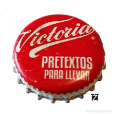 Coleccionismo de cervezas: TAPÓN CORONA MÉXICO (MX)--CHAPA CERVEZA MODELO VICTORIA (PRETEXTO PARA LLEVAR) 2 IMAGENES. Lote 206895206