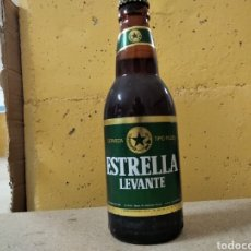 Coleccionismo de cervezas: BOTELLA CERVEZA ESTRELLA LEVANTE ETIQUETA. Lote 207230632