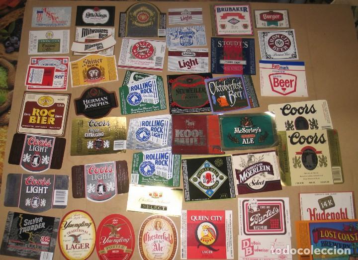 LOTE 43 ETIQUETAS U.S.A. (Coleccionismo - Botellas y Bebidas - Cerveza )
