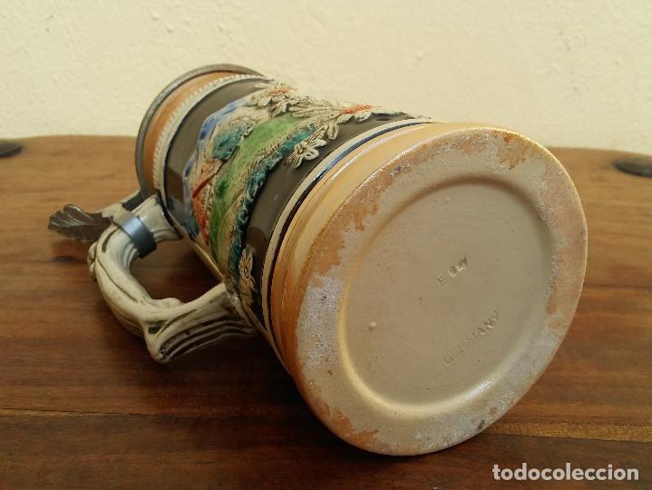 Coleccionismo de cervezas: BONITA JARRA CERVEZA DE PORCELANA ALEMANA CON TAPA METÁLICA, SELLO EN LA BASE, E. BAY GERMANY - Foto 6 - 208393002