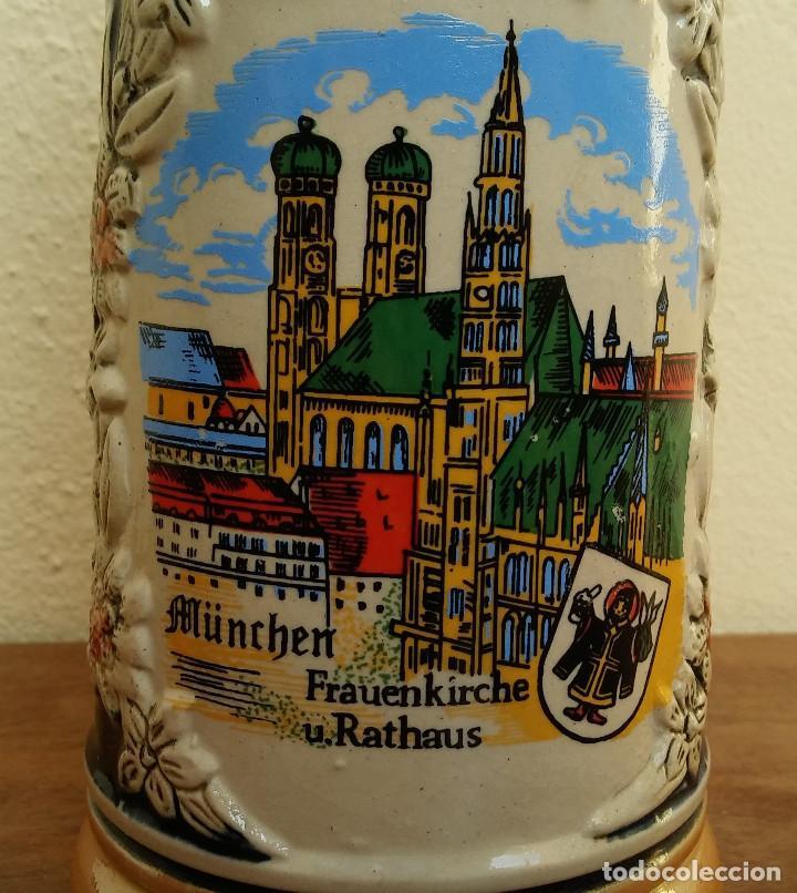 Coleccionismo de cervezas: BONITA JARRA CERVEZA DE PORCELANA ALEMANA CON TAPA METÁLICA, SELLO EN LA BASE, E. BAY GERMANY - Foto 7 - 208393002