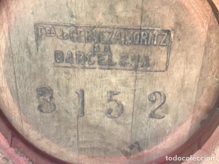 Coleccionismo de cervezas: ANTIGUO BARRIL CERVEZA MORITZ - BARCELONA - ORIGINAL - Foto 6 - 243891860