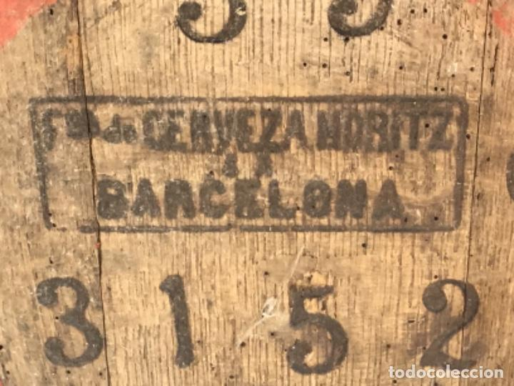 Coleccionismo de cervezas: ANTIGUO BARRIL CERVEZA MORITZ - BARCELONA - ORIGINAL - Foto 7 - 243891860