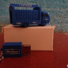 Coleccionismo de cervezas: PENDRIVE CAMIÓN DE REPARTO MAHOU PEN DRIVE USB 16 GB. NUEVO A ESTRENAR. Lote 210334661