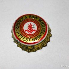 Coleccionismo de cervezas: CHAPA CERVEZA - SAN MIGUEL - PILSENER - LETRA E - INSCRIPCIÓN SIN ESTABILIZADOR DE ESPUMA. Lote 211809388