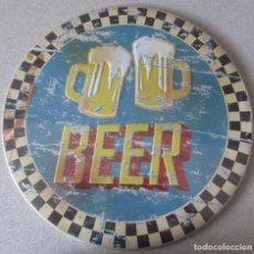 Coleccionismo de cervezas: PLACA METALICA DE CERVEZA 30 CENTIMTROS DE DIAMETRO NUEVA. Lote 212974000