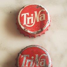 Coleccionismo de cervezas: LOTE DE 2 CHAPA CORONA TAPON TRINA. Lote 213621276