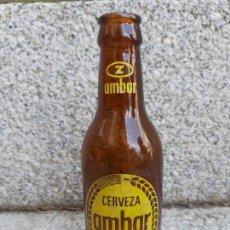 Collectionnisme de bières: RARA BOTELLA CERVEZA AMBAR RELIEVE MORITZ ZARAGOZANA 1/5. Lote 214015967