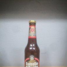 Coleccionismo de cervezas: BOTELLA DE CERVEZA ESTRELLA DE GALICA EDICIÓN ESPECIAL NAVIDAD AÑO 2007. LLENA. Lote 214395368