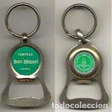 Coleccionismo de cervezas: ABRIDOR / LLAVERO SAN MIGUEL. Lote 214525228