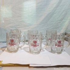 Coleccionismo de cervezas: LOTE DE 6 JARRAS CERVEZA DAMM-ESTRELLA. Lote 214970416