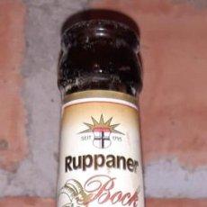 Coleccionismo de cervezas: BOTELLA CERVEZA VACÍA Y SIN CHAPA RUPPANER BOCK HELLES STARKBIER. Lote 217417845