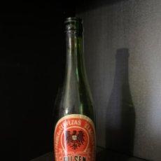 Coleccionismo de cervezas: BOTELLA DE CERVEZA EL AGUILA NEGRA TERCIO ETIQUETA (M3). Lote 217847696