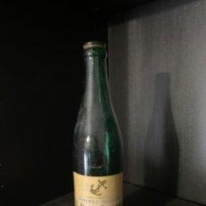 Coleccionismo de cervezas: BOTELLA DE CERVEZA EL ANCLA DORADA TERCIO ETIQUETA. Lote 217849277