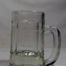 Coleccionismo de cervezas: ANTIGUA JARRA DE CERVEZA EN CRISTAL GRABADO AL ACIDO: CASA ZURRON. CABAÑAQUINTA. ALLER. ASTURIAS.. Lote 218169602