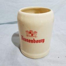 Coleccionismo de cervezas: JARRA DE CERVEZA KRONENBOURG. Lote 218667268