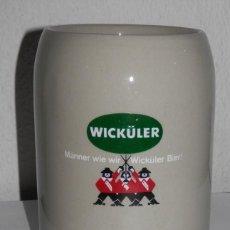 Coleccionismo de cervezas: JARRA DE PORCELANA DE LA MARCA DE LA CERVEZA WICKULER. Lote 218754630