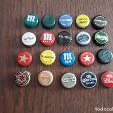 Collectionnisme de bières: LOTE DE 20 CHAPAS DE CERVEZA.. Lote 219439426