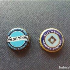 Collezionismo di birre: LOTE DE 2 CHAPAS USA, TAPÓN CORONA DIFERENTES DE LA CERVEZA BLUE MOON. VER DESCRIPCIÓN.. Lote 246771685