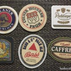 Coleccionismo de cervezas: LOTE DE 21 POSAVASOS DE CERVEZA EXTRANJERA. Lote 220798503