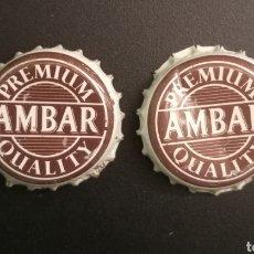 Coleccionismo de cervezas: CHAPA AMBAR PREMIUM QUALITY. Lote 221008050