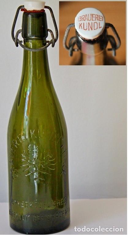 ANTIGUA BOTELLA BRAUEREI KUNDL - TIROL (Coleccionismo - Botellas y Bebidas - Cerveza )