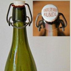Coleccionismo de cervezas: ANTIGUA BOTELLA BRAUEREI KUNDL - TIROL. Lote 221752075