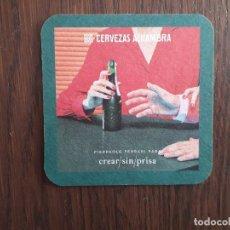 Coleccionismo de cervezas: POSAVASOS DE CERVEZA ALHAMBRA, PIERPAOLO FERRARI, PARA CREAR/SIN/PRISA.. Lote 222282238