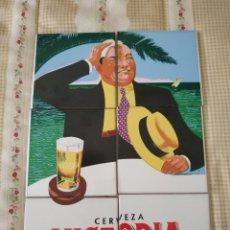 Coleccionismo de cervezas: AZULEJOS CERVEZA VICTORIA. Lote 222664148