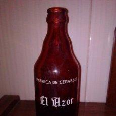 Coleccionismo de cervezas: ANTIGUA BOTELLA DE CERVEZA EL AZOR, CARTAGENA, MURCIA. DE LAS ANTIGUAS, SIN RECUADRO.. Lote 222794558