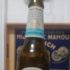 Coleccionismo de cervezas: BOTELLA CERVEZA ROSA BLANCA MALLORCA. VACÍA Y SIN TAPÓN. Lote 223495168
