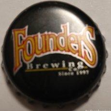 Coleccionismo de cervezas: TAPÓN CORONA CHAPA CERVEZA FOUNDERS BREWING. USA. Lote 223608318