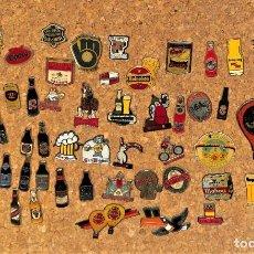 Coleccionismo de cervezas: 55 PINS DE BEBIDAS Y CERVEZAS. Lote 224149818