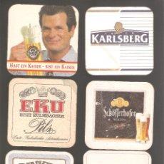 Coleccionismo de cervezas: 1 LOTE DE 10 POSAVASOS USADOS. Lote 224185443