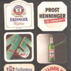 Coleccionismo de cervezas: 1 LOTE DE 10 POSAVASOS USADOS. Lote 224185680
