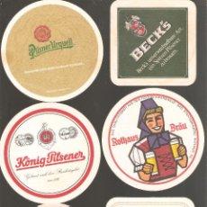 Coleccionismo de cervezas: 1 LOTE DE 10 POSAVASOS USADOS. Lote 224575507