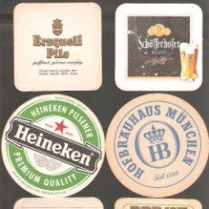 Coleccionismo de cervezas: 1 LOTE DE 10 POSAVASOS USADOS. Lote 224976406