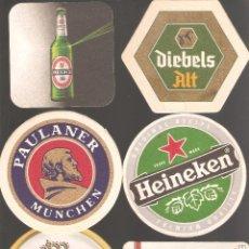 Coleccionismo de cervezas: 1 LOTE DE 10 POSAVASOS USADOS. Lote 224976905