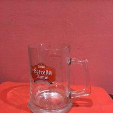 Coleccionismo de cervezas: JARRA DE CERVEZA ESTRELLA DAMM DE CRISTAL GRANDES DIMENSIONES 20 CM - VER FOTOS. Lote 225071445
