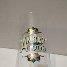 Coleccionismo de cervezas: ANTIGUA COPA GRANDE DE CERVEZA AMBAR 1900 - VER TODAS LAS FOTOS. Lote 225629230