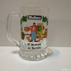 Coleccionismo de cervezas: COLECCIÓN JARRA MAHOU - EL VENDEDOR DE BARRILES -. Lote 226046750