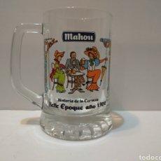 Coleccionismo de cervezas: COLECCIÓN JARRA MAHOU - HISTORIA DE LA CERVEZA BELLE EPOQUE AÑO 1900. Lote 226048520
