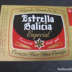 Coleccionismo de cervezas: ETIQUETA CERVEZA ESTRELLA GALICIA ESPECIAL.. Lote 226677245