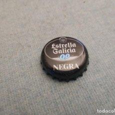 Coleccionismo de cervezas: CHAPA CERVEZA ESTRELLA GALICIA 0,0 NEGRA (NEWBOX). Lote 227002220